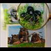 Tiere der Wildnis Berggorilla & Nilpferdfamilie Mountain Gorilla Hippoputamus