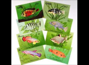 Meeresfauna Fische Distichodus affinis Nothobranchius palmquisti 8 Werte