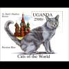 Katzen aus aller Welt Russland Russian Blue und Inselman Manxkatze 2 Blöcke
