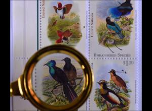 Vereinte Nationen UNO UN New York 2015 MiNr. 1465-68 Gef. Arten Paradiesvogel
