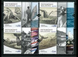 Portugal Azoren 2011 MiNr. 571-74 Geschichte des Walfangs Walfangszenen