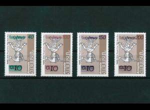 Armenien Michel Nr. 276-279 Freimarke 227 mit verschiedenfarbigem Aufdruck