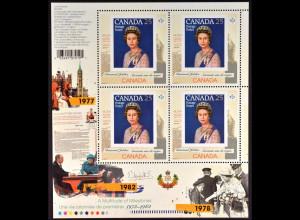 Kanada 2012, Michel Nr. 2811 Kleinbogen, Thronbesteigung Königin Elisabeth II.