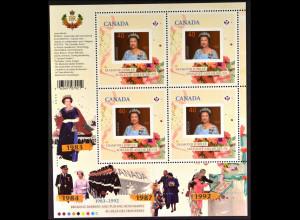 Kanada 2012, Michel Nr. 2820 Kleinbogen, Thronbesteigung Königin Elisabeth II.