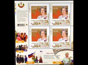 Kanada Canada 2012, Mi. Nr. 2822 Klbg., Thronbesteigung Königin Elisabeth II.