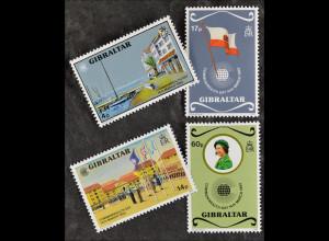Gibraltar 1983, Mi. Nr. 459-62, Commonwealth-Tag, Jachthafen, Pfadfinderparade