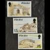 Gibraltar 1983, Michel Nr. 469-71, Befestigung von Gibraltar im 18. Jahrhundert