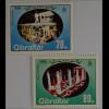 Gibraltar 1984, Mi.Nr. 485-86, Weihnachten, Prunkwagen d.Hl.-Drei-König-Umzuges