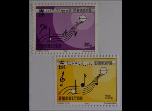 Gibraltar 1985, Mi. Nr. 487-88, Europa: Europäisches Jahr der Musik, Europahymne