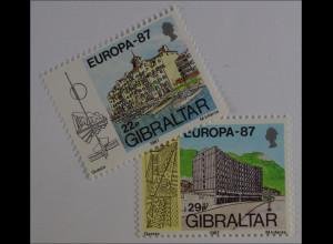 Gibraltar 1987, Nr. 519-20, Europa: Moderne Architektur, Neptue House, O.Heights