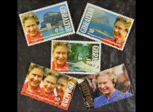 Gibraltar 1992, Michel Nr. 633-37, 40. Jahrestag von Königin Elizabeth II.