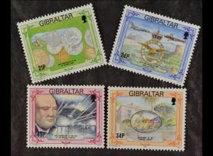 Gibraltar 1993, Michel Nr. 675-78, Jahrestage: 25 J. Münzen in Dezimalwährung...