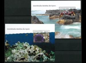Azoren Michel Nr. Block 44-45 ** Jahr 2010 Wirbellose Meerestiere der Azoren