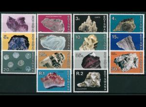 Botswana Michel Nr. 114-27 kpl. Satz Freimarkenserie Mineralien