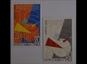 Zypern griechisch Cyprus 2003, Michel Nr. 1013-14, Europa: Plakatkunst