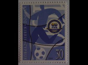 Zypern griechisch 2004, Michel Nr. 1031, 100 Jahre int. Fußballverband FIFA