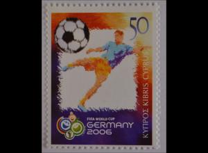 Zypern griechisch 2006, Michel Nr. 1071, Fußball-Weltmeisterschaft Deutschland