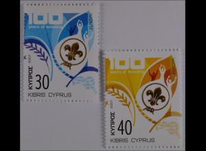 Zypern griechisch Cyprus 2007, Michel Nr. 1096-97, Europa: Pfadfinder