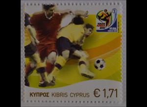 Zypern griechisch 2010, Michel Nr. 1179, Fußball-Weltmeisterschaft Südafrika