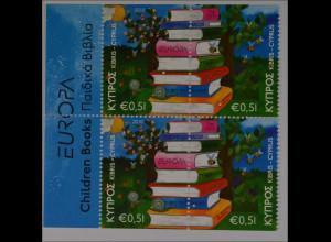 Zypern griechisch 2010, Michel Nr. 1181-82 Do/Du, Europa: Kinderbücher, aus MH