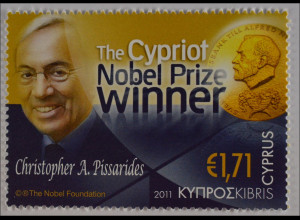 Zypern griechisch Cyprus 2011, Nr. 1217, Nobelpreisverleihung an C. Pissarides