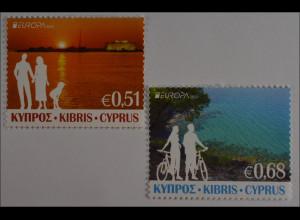 Zypern griechisch Cyprus 2012, Nr. 1237-38 A, Europa: Besuche