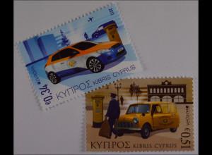 Zypern griechisch Cyprus 2013 Michel Nr. 1257-58 Europa Postfahrzeuge