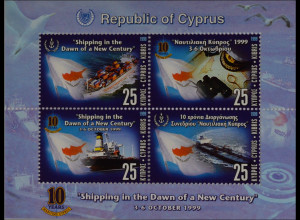 Zypern griechisch Cyprus 1999 Block 20 10 Jahre Schiffsverband von Zypern