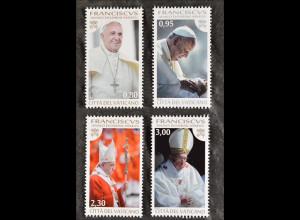Vatikan Vatican 2015, Nr. 1827-30, Drittes Pontifikatsjahr von Papst Franziskus