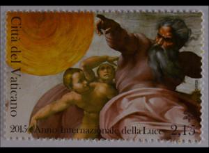 Vatikan Vatican 2015, Nr. 1831, Intern. Jahr des Lichtes, Gemälde Michelangelo