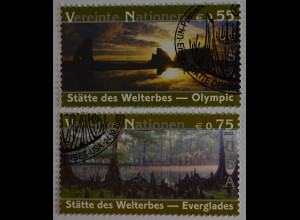 Vereinte Nationen UNO UN Wien 2003 Nr. 397-98 UNESCO Welterbe in den USA