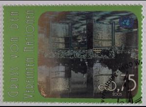 Vereinte Nationen UNO UN Wien 2005 Michel Nr. 434 Freimarke Hologramm