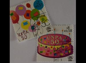 Vereinte Nationen UNO UN Wien 2001 Nr. 342-43 50 Jahre Postverwaltung Torte