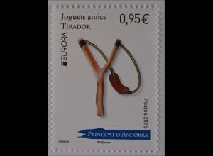 Andorra französisch 2015 Michel Nr. 788 Europa Altes Spielzeug Steinschleuder