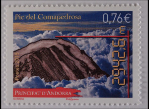 Andorra französisch 2015 Michel Nr. 790 PIC del Comapedrosa Fels und Brandung