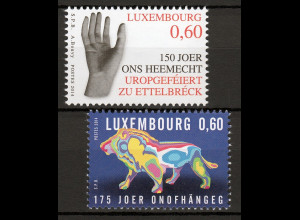 Luxemburg 2014 Michel Nr. 2005-06 Unabhängigkeit Luxemburg