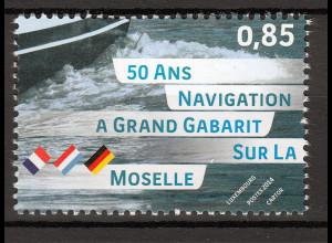 Luxemburg 2014 Michel Nr. 2004 50 Jahre Großschiffahrt auf der Mosel