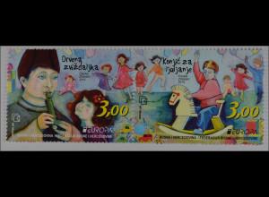 Bosnien Herzegowina Kroatische Post Mostar 2015 Nr. 408-09Europa:Spielzeug