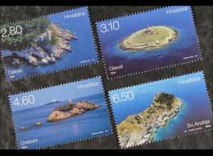 Kroatien Croatia 2015, Michel Nr. 1188-91, Küstenlandschaften, Leuchtturm