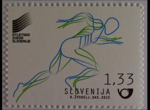 Slowenien Slovenia 2015, Michel Nr. 1156, Leichtathlletik WM Peking, Einzelwert