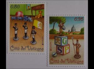 Vatikan Vatican Cittá del Vaticano 2015, Michel Nr. 1834-35, Europa, Spielzeug