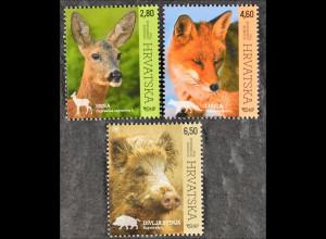 Kroatien Croatia 2015, Michel Nr. 1172-74, Fauna 2015, Reh, Fuchs, Wildschwein