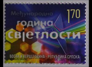 Bosnien Herzegowina Serbische Republik 2015 Michel Nr. 645 Jahr des Lichts
