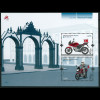 Azoren Michel Nr. Block 52 ** Jahr 2013 Europa-Postfahrzeuge Motorrad+Postkiste