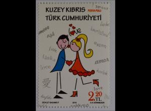 Zypern türkisch Cyprus Turkish 2015, Michel Nr. 804, Valentinstag, Herz, Love ..