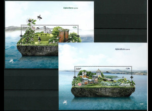 Portugal Azoren2013 Block 53-54 Bienenzucht Heilig Geist Kapelle Insel Terceira