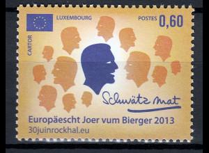 Luxemburg 2013 Michel Nr. 1962 **, Europäisches Jahr der Bürgerinnen und Bürger