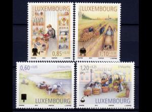 Luxemburg 2012 Michel Nr. 1956-59 Alte Handwerksberufe Waschfrau