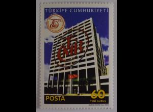 Türkei Turkey 2006, Michel Nr. 3552, 75 Jahre Türkische Zentralbank in Ankara