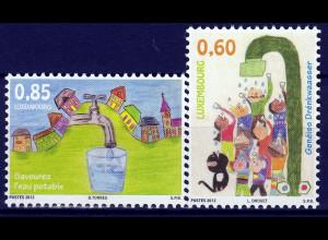 Luxemburg 2012 Michel Nr. 1952-53 Kinder- u. Jugendmalwettbewerb Trinkwasser